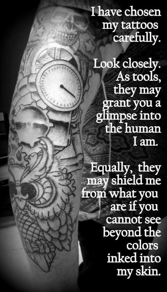 Tattoos Are Chosen Carefully