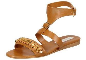 Stella McCartney Removable-Cuff Flat Chain Sandal