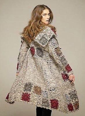 Crochet Winter Coat