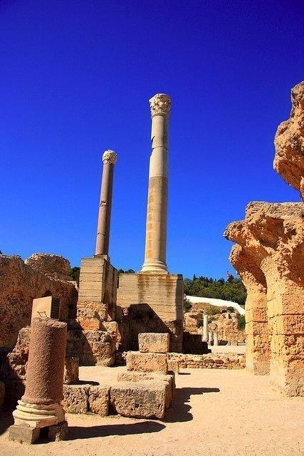 The Roman Ruins of Carthage, Tunisia