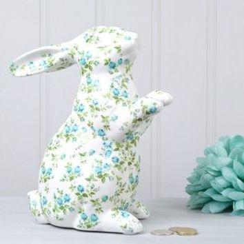 Floral Bunny Money Box