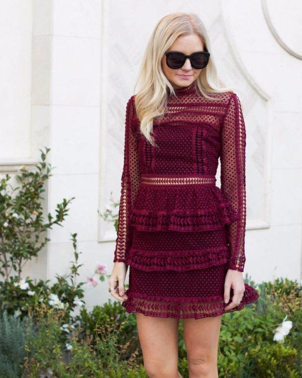 clothing, pink, dress, sleeve, magenta,