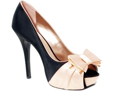 ASOS POSH Bow Front Heels