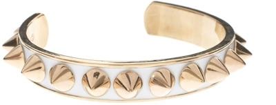 Kitson White Enamel Spiky Bracelet