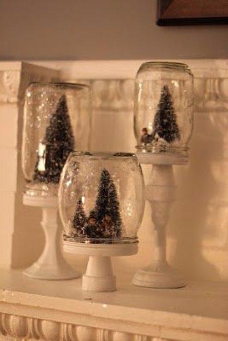 Mason Jar Christmas Display