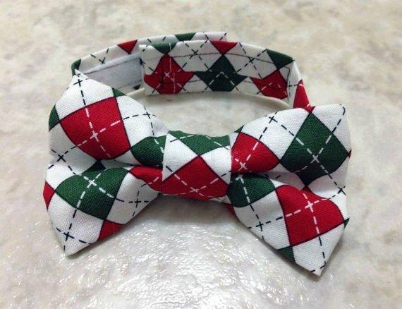 Holiday Argyle Boy Bow Tie