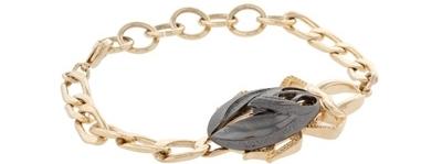 Asos Two Tone Metal Scarab Beetle Bracelet