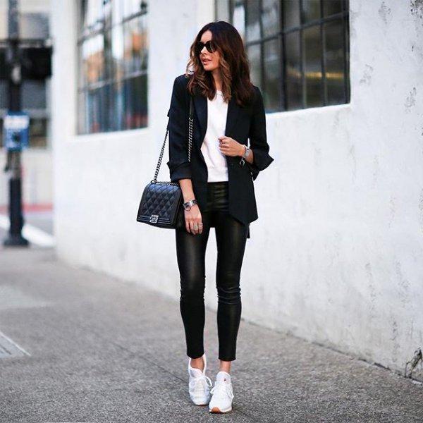 black, clothing, footwear, denim, jacket,