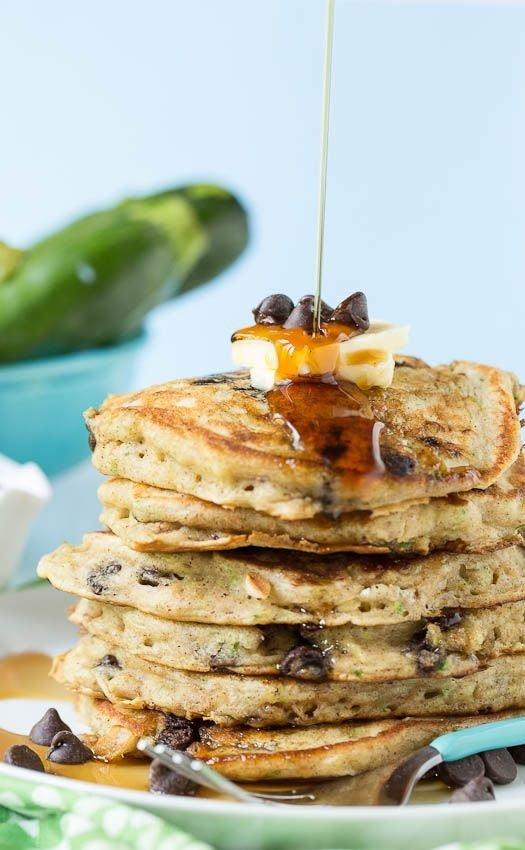 Chocolate Chip Zucchini Bread Pancakes