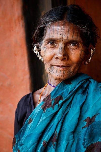 Kutia Kondh Tribal Woman in a Small Orissa Village