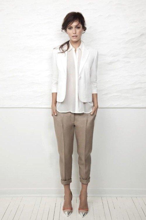 Sleek Khaki Trousers