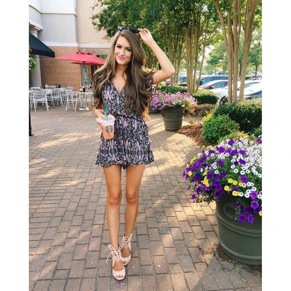 clothing, dress, pattern, footwear, spring,