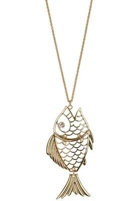 Topshop Cut out Fish Necklace