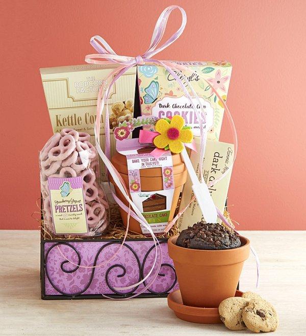gift basket, food, basket, gift,