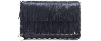 Falabella Fringe Fold over Clutch Bag