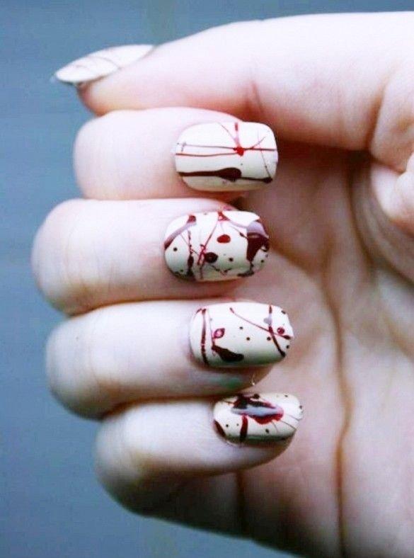 1 splattered blood