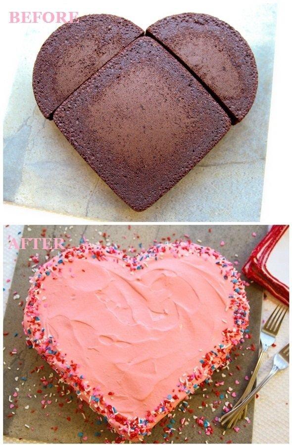 Make a Heart Shaped Cake without a Heart Cake Pan