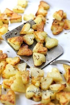 Heart Shaped Potatoes