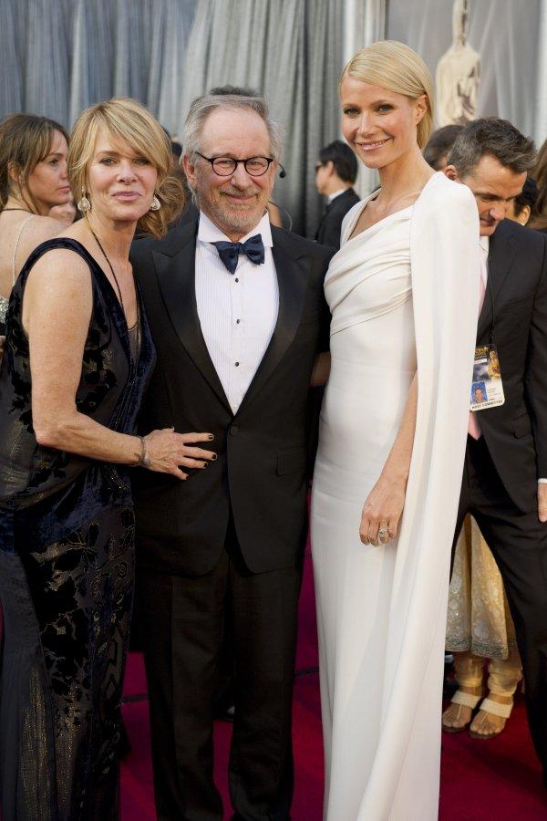 Gwyneth Paltrow and Steven Spielberg