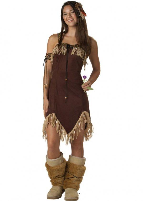 Pocahontas. Via Indian Princess Teen Costume  sc 1 st  Teen & Pocahontas - 29 Adorable Teen Halloween Costumes ... Teen