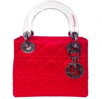 Red Satin Evening Handbag