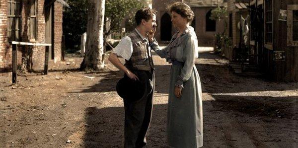 Helen Keller and Charlie Chaplin in 1919