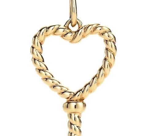 Tiffany Keys Twist Heart Key Pendant