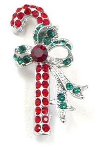 Christmas Cane Pin