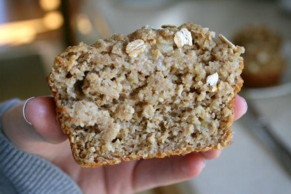 No Flour Oatmeal Banana Muffins