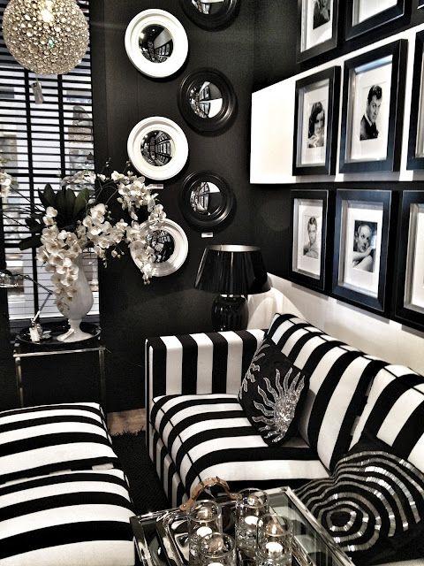 black, white, black and white, room, living room,
