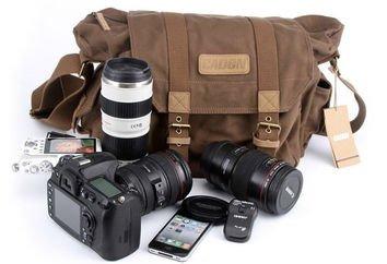 Canvas Men's Messenger Camera Bag Briefcase