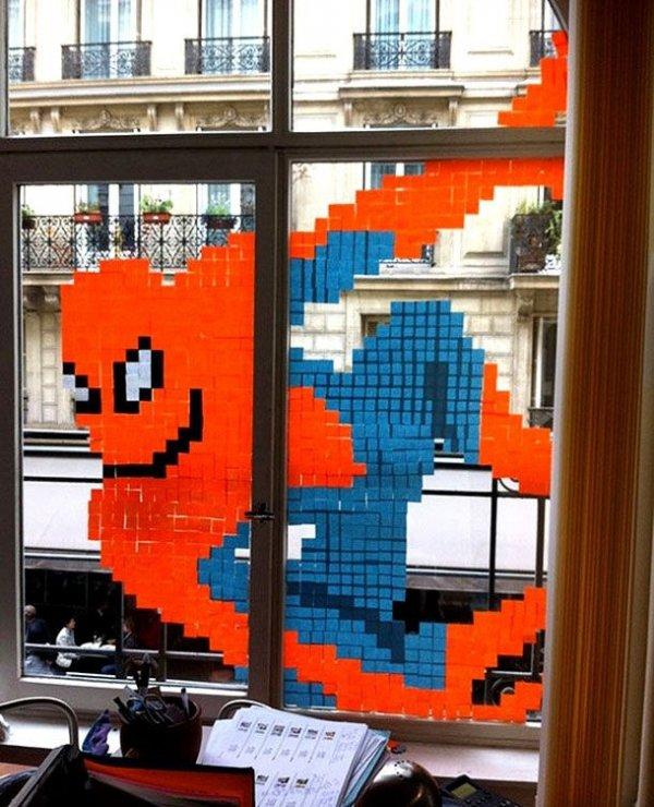 Spiderman in the Window