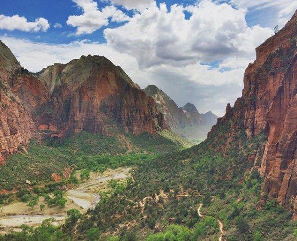 Zion National Park, landform, wilderness, valley, formation,