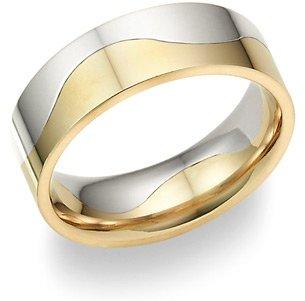 Two-Halves One Flesh Wedding Band Ring
