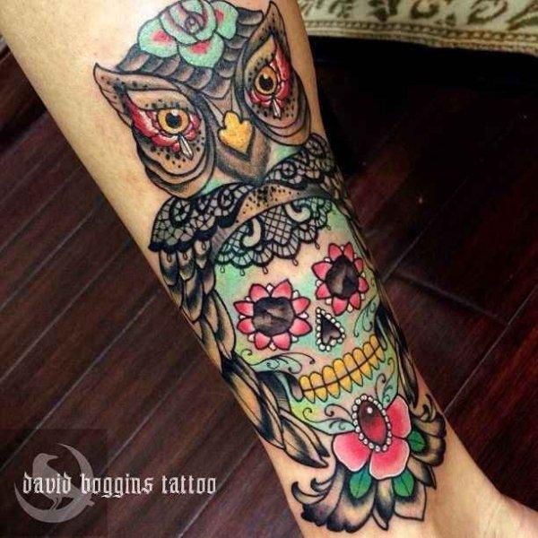 Amazing Sugar Skull Tattoo