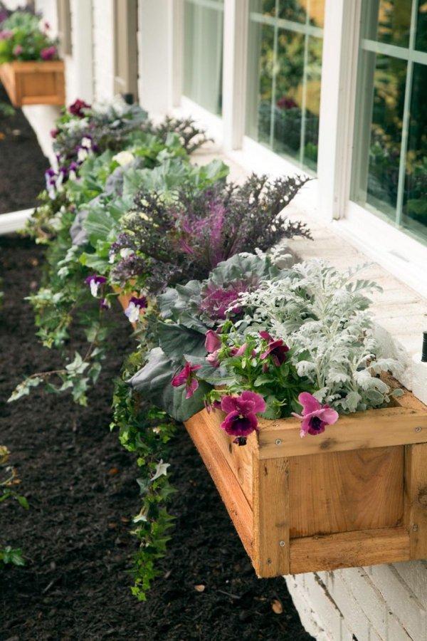 Wooden Outdoor Planter