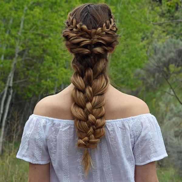 hair, hairstyle, braid, long hair, french braid,