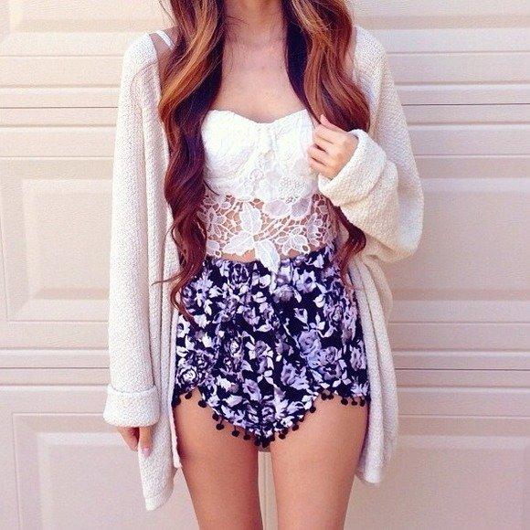 Wear Floral Shorts