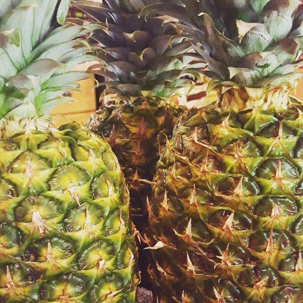 produce, fruit, food, plant, pineapple,