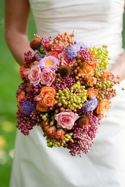 Flowers, Grapes & Pepper Berries...