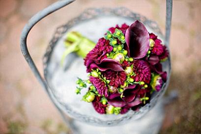 Purple Callas & Green Berries...