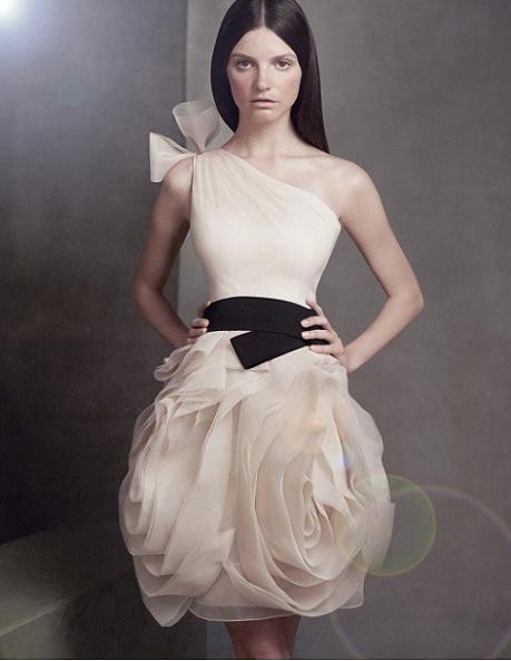 One Shoulder Organza Dress...