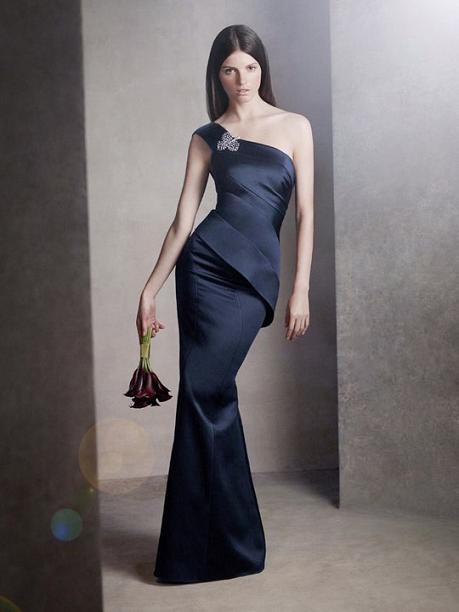 One Shoulder Satin Dress...