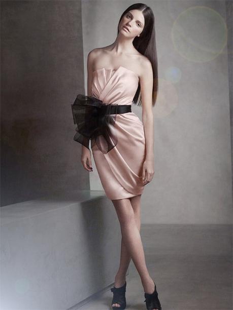 Short Draped Satin Dress...