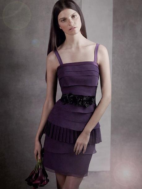 Tiered Crinkle Chiffon Dress...