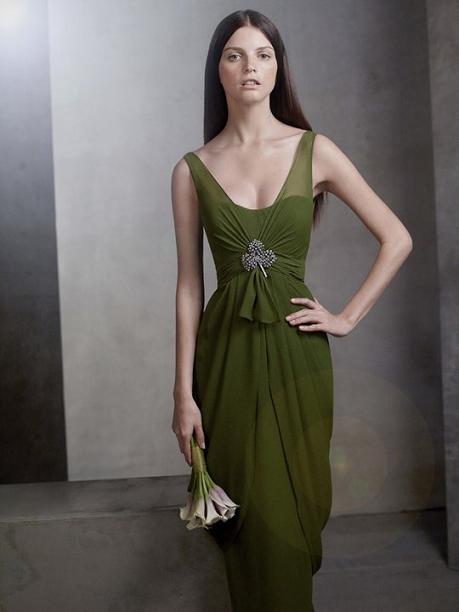 V-Neck Chiffon Column Dress...