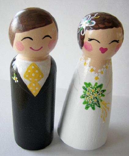 Daisy Theme Wedding Cake Topper...