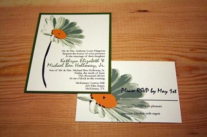 Daisy Theme Wedding Invitation...