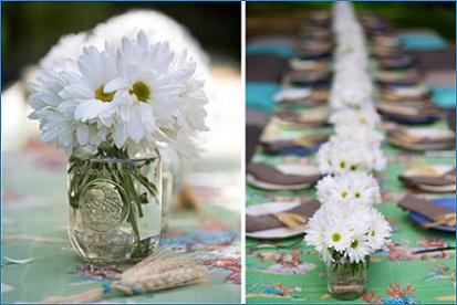 Daisy Theme Wedding Centerpiece...