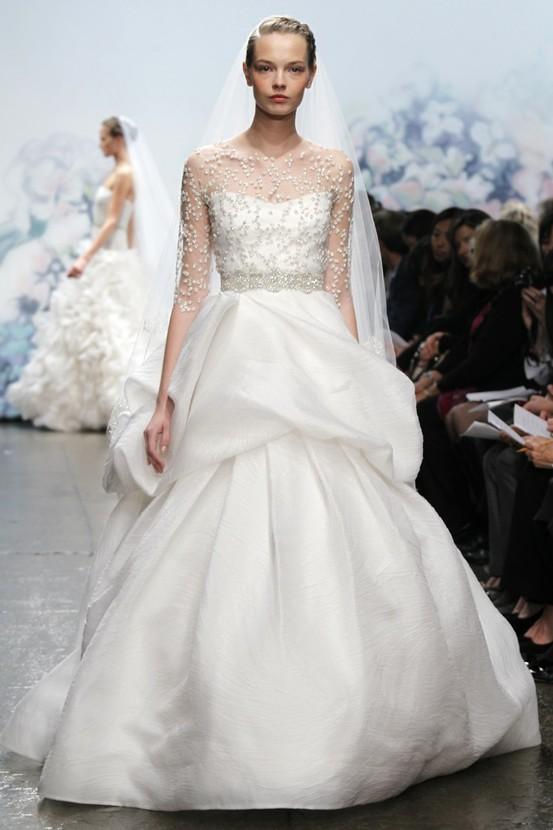 Illusion Neckline Wedding Gown Trend...